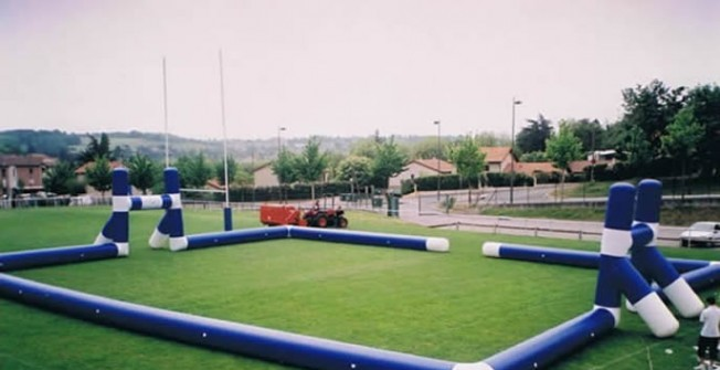 Inflatable Football Pitch in East Renfrewshire