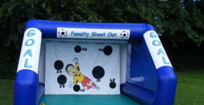 Inflatable Football Shootout in Glapthorn