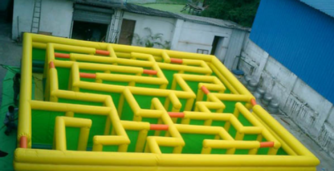 Portable Inflated Labyrinth in Cumbria