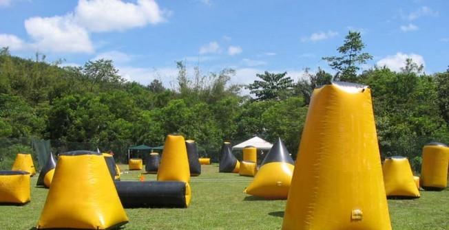 Air Inflated Paintball Course Design in Aberfan