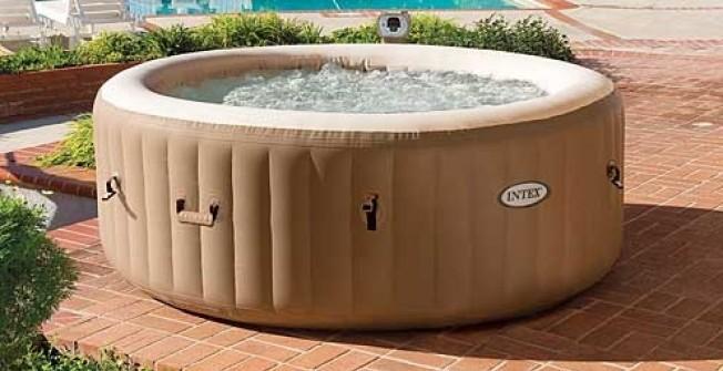 Air Inflated Hot Tub in Abercynon