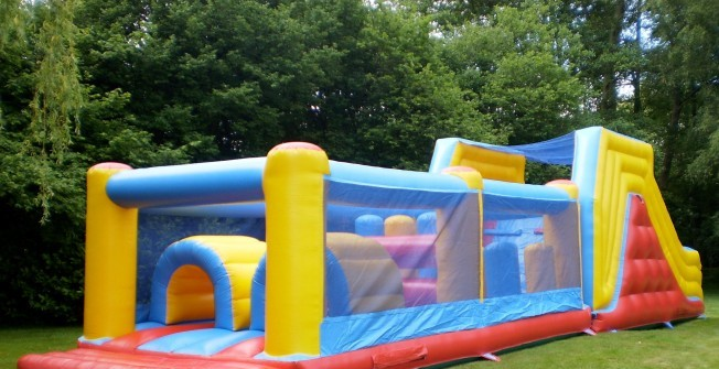 Inflatable Assault Course in Wysall