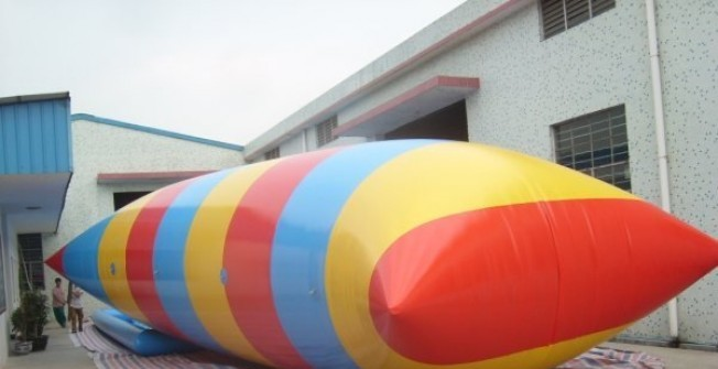 Inflated Aqua Blob Jumper in Hertfordshire