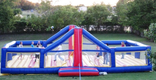 Inflatable Volleyball Court in Staffordshire