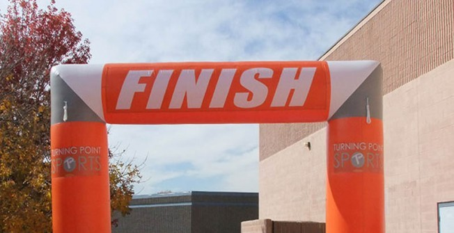 Inflatable Finish Line Arch in Abingworth