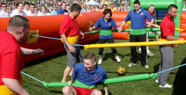 Inflatable Human Table Football  in Badger