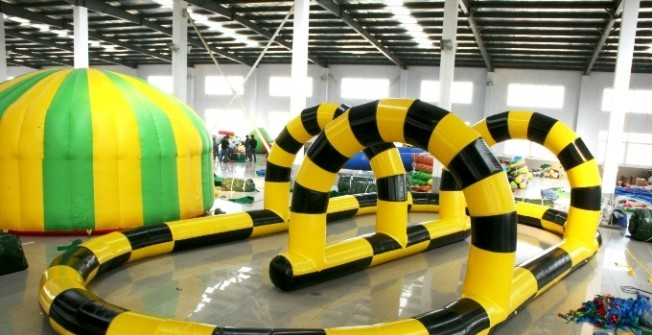 Indoor Blow Up Go-Kart Course