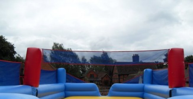 Outdoor Volleyball Inflatable Court in Staffordshire