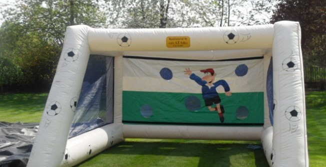 Large Outdoor Blow Up Air Soccer Goal in Glapthorn