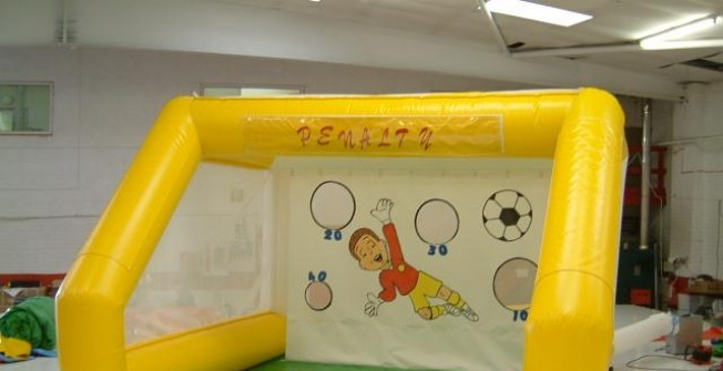 Indoor Beat the Keeper Inflatable Facility in Hare Hatch